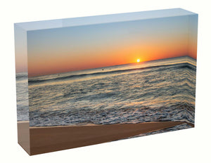 Acrylic block sunrise photo 29th August 2020 Manly beach, Sydney