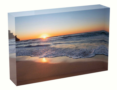 Sunrise photo 2nd July 2020 Queenscliff beach Acrylic Block