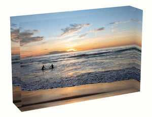 Acrylic block Sunrise photo from 3rd April 2020 at Manly Beach, Sydney