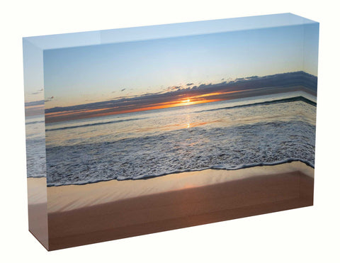 Sunrise photo 3rd July 2020 Manly beach Acrylic Block
