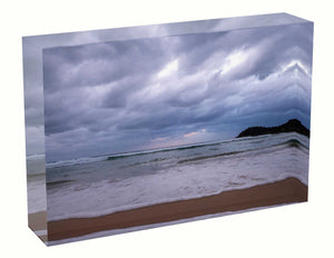 Acrylic block Birth Sunrise photo from the 3rd March 2021 at Manly beach in Sydney unique keepsakes