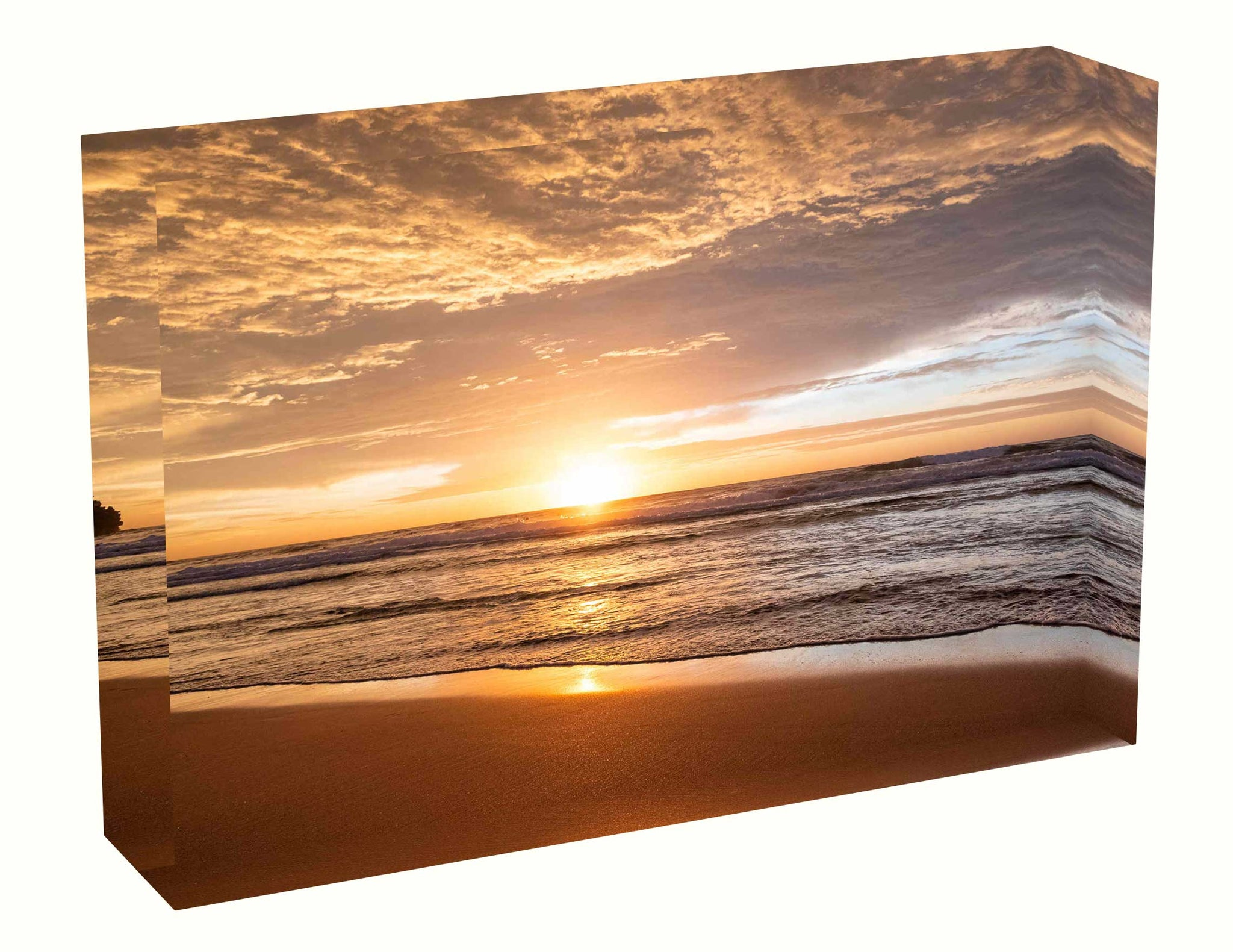Acrylic block Sunrise photo from 30th April 2020 at Manly beach, Sydney