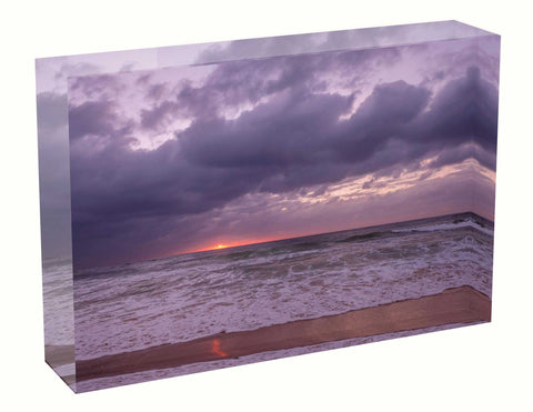 acrylic block Sunrise photo from the 30th March 2021 at Manly beach in Sydney