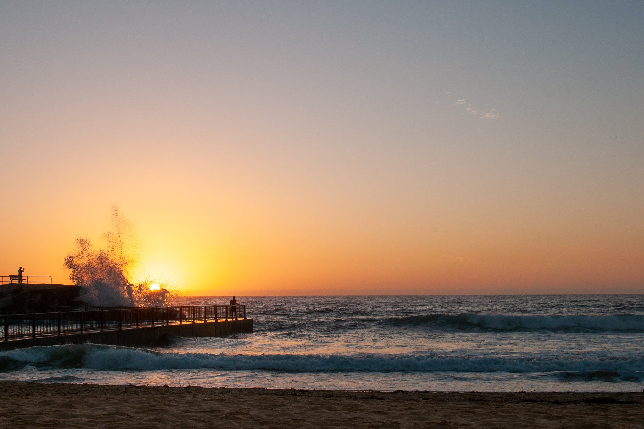 Sunrise photo from the 18th February 2019 at Queenscliff pool in Sydney