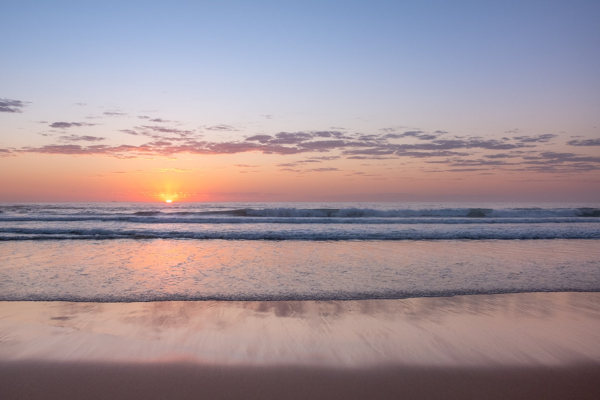 Sunrise photo from the 4th October 2019 at Manly Beach in Sydney