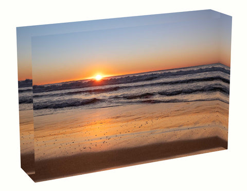 Acrylic block sunrise photo 5th August 2020 Manly beach, Sydney