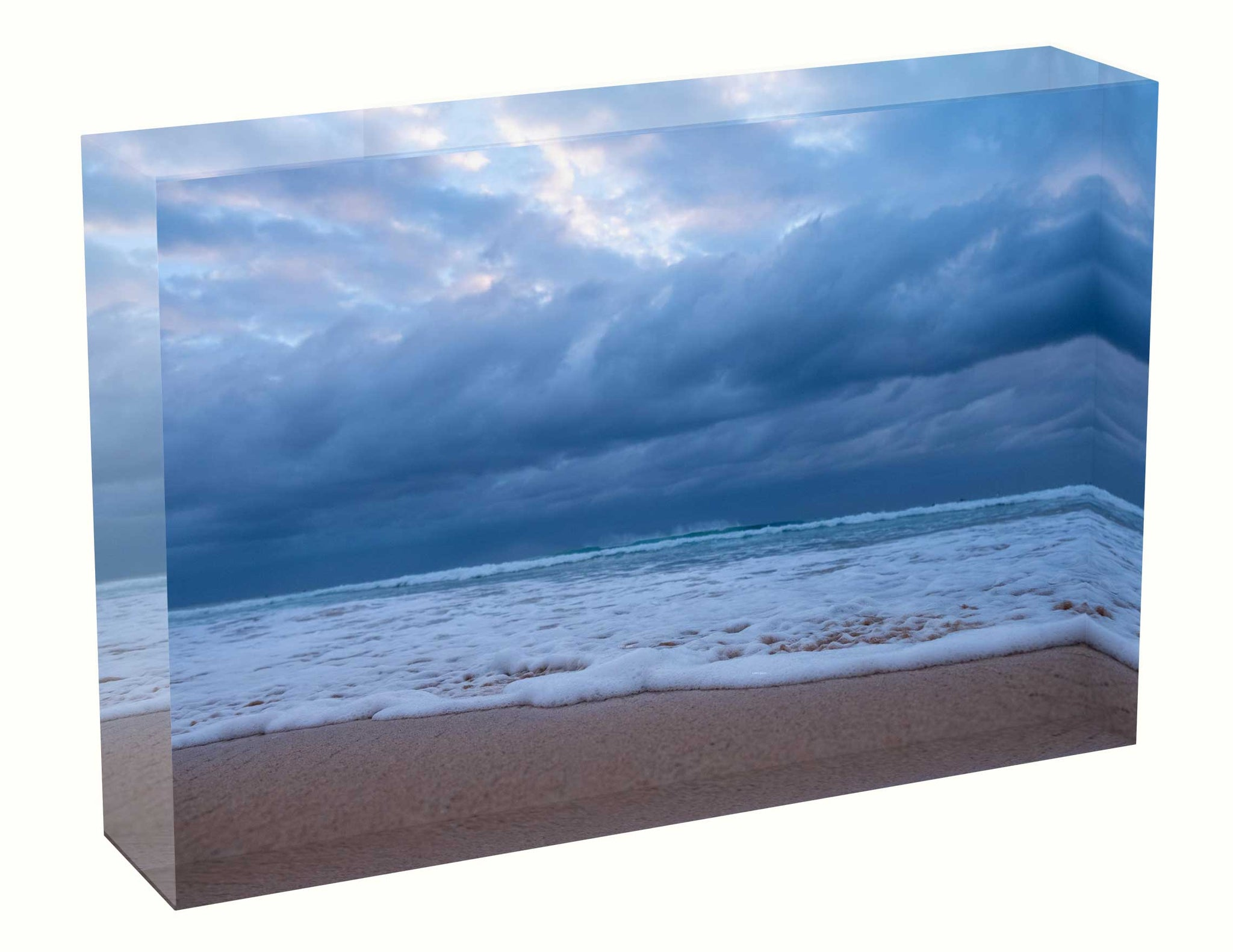 acrylic block Sunrise photo from the 6th March 2021 at Manly beach in Sydney