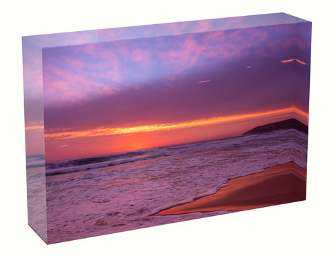 Acrylic block sunrise photo 6th February 2021 Manly beach, Sydney personal gift