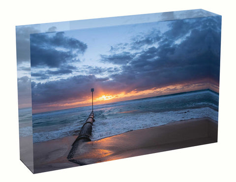 Acrylic block Birth Sunrise photo from the 7th March 2021 at Manly beach in Sydney