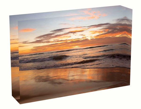 Acrylic block Sunrise photo from 7th May 2020 at Manly beach, Sydney