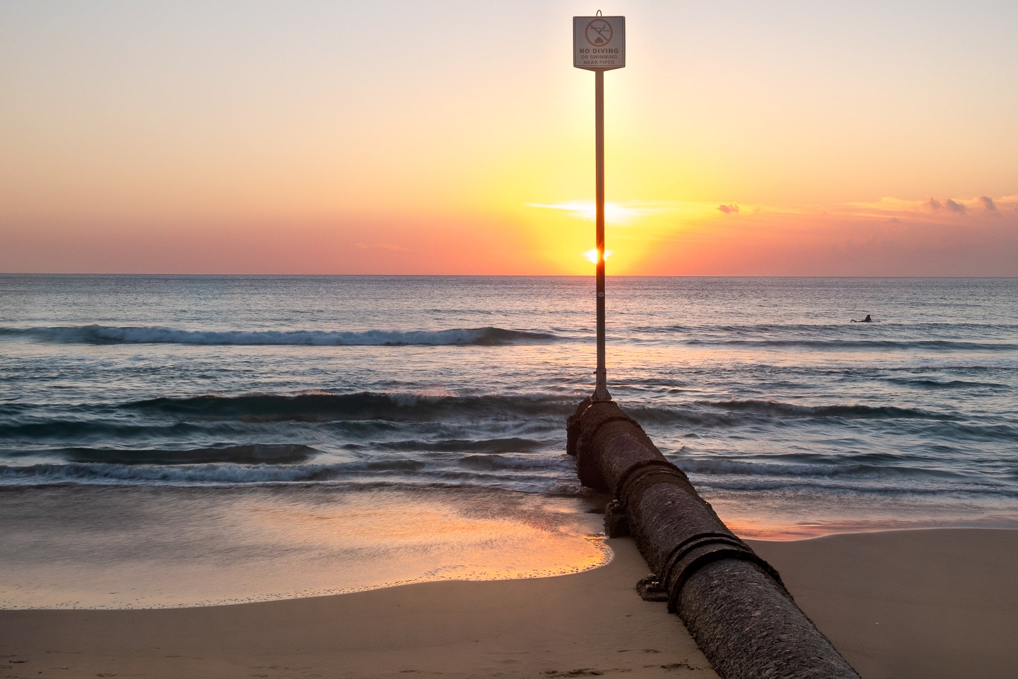 Sunrise photo from the 11th March 2019 at the pipes on Manly beach in Sydney