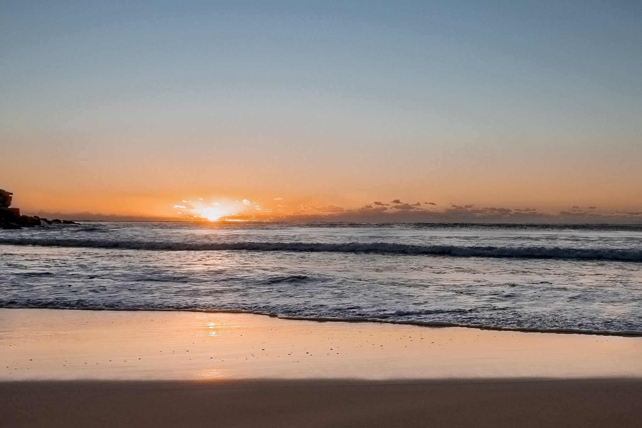 Sunrise photo from the 31st March 2019 at Manly beach in Sydney