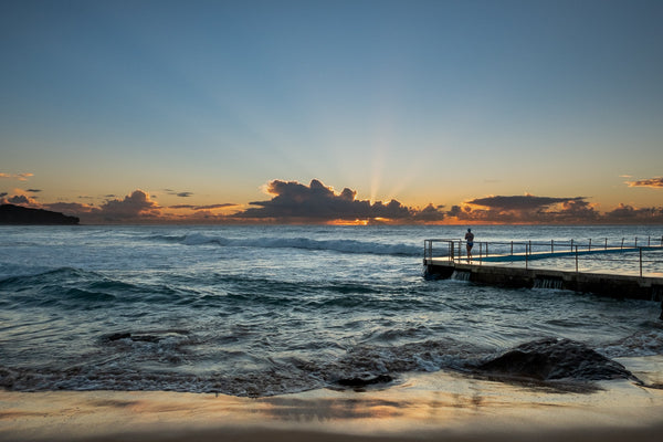 Sunrise photo from the 17th April 2019 at Curl Curl rock pool in Sydney