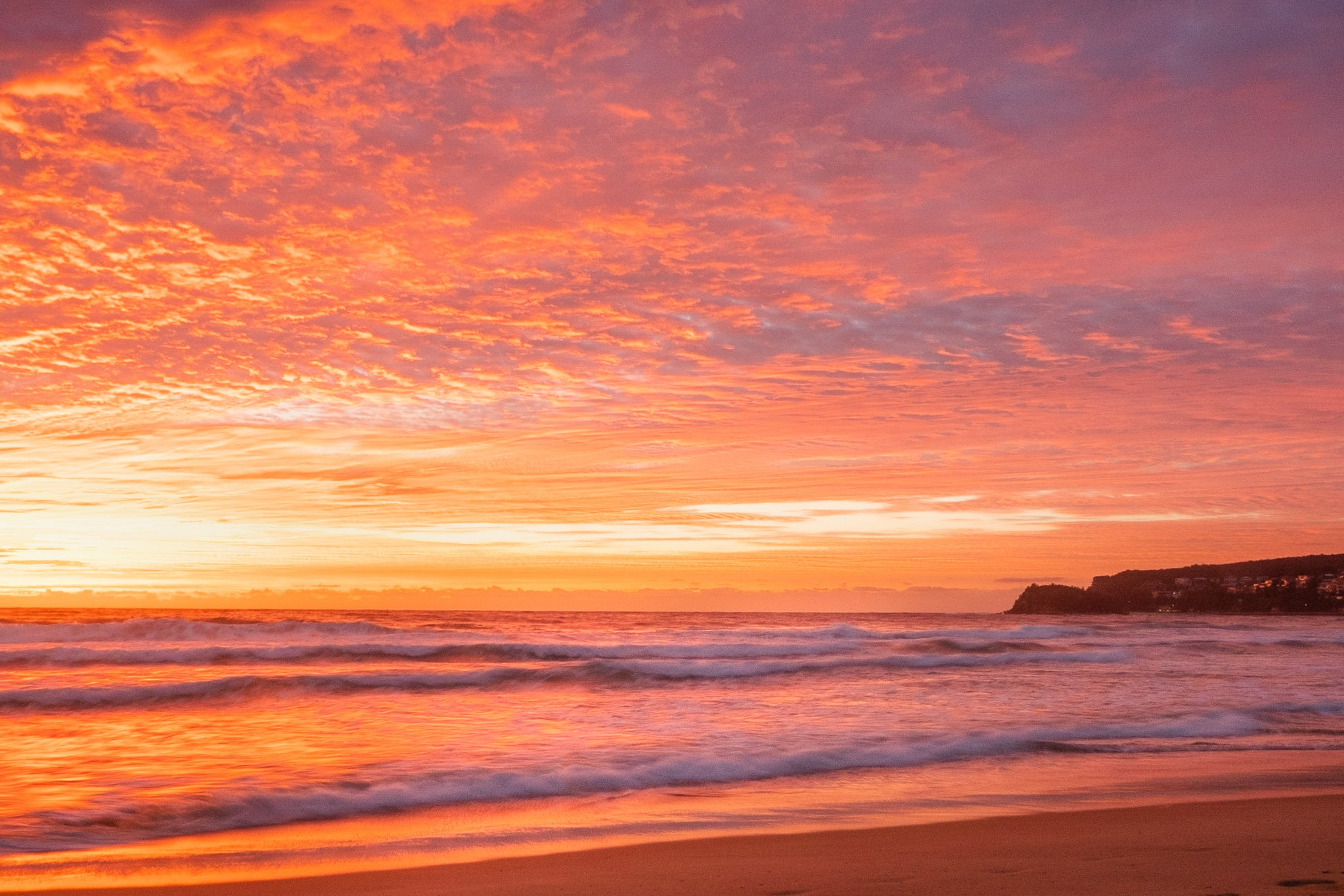 Sunrise photo from the 1st May 2019 at Manly Beach in Sydney