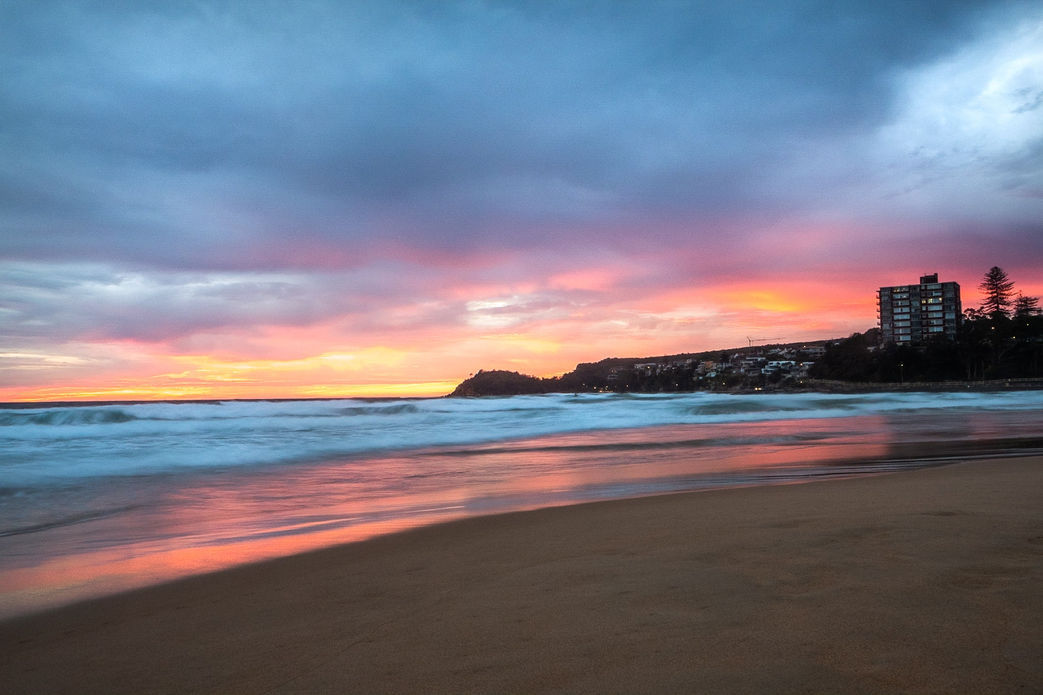 Sunrise photo from the 3rd May 2019 at Manly beach in Sydney