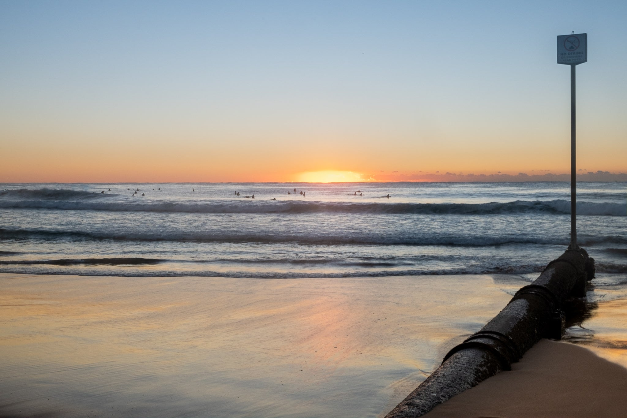 Sunrise photo from the 7th May 2019 at Manly beach in Sydney