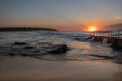 Sunrise photo from the 18th May 2019 at Curl Curl Rock Pool in Sydney