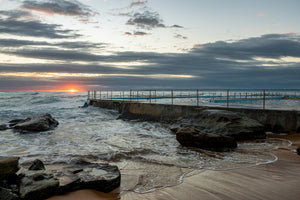 Sunrise photo from the 30th June 2019 at Curl Curl Rock Pool in Sydney