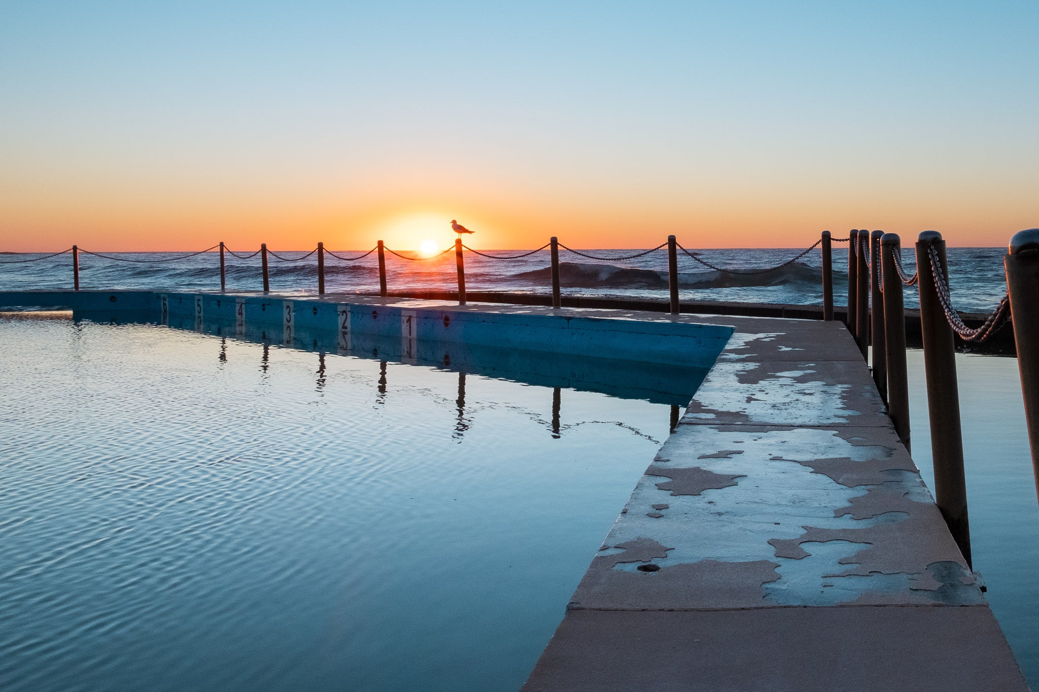 Sunrise photo from the 21st July 2019 at Curl Curl Rock Pool in Sydney
