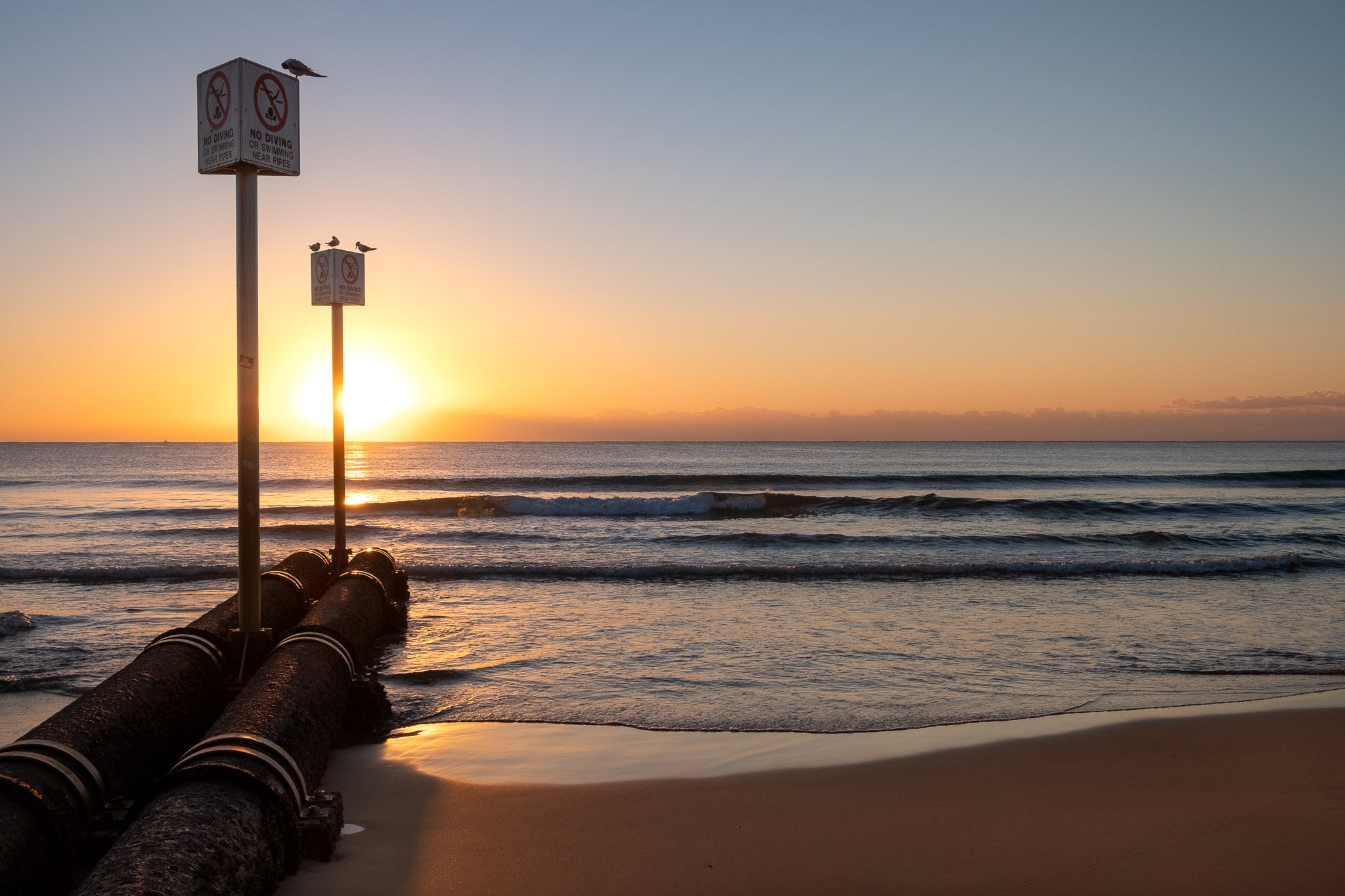 Sunrise photo from the 18th August 2019 at Manly Beach in Sydney