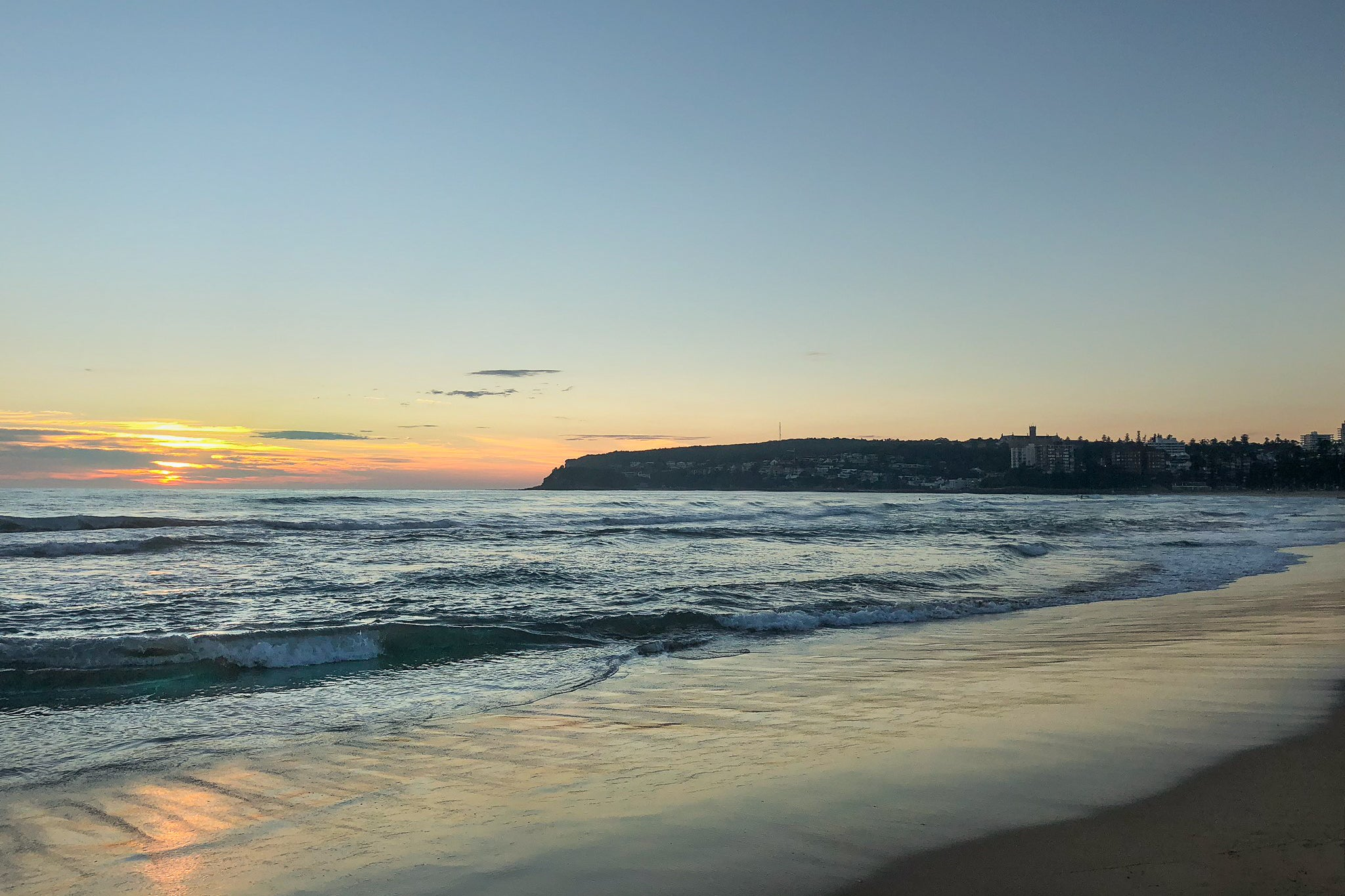 Sunrise on the 12th January 2019 from Queenscliff Beach in Sydney