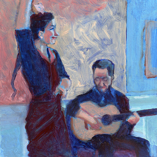 Flamenco Dancer with Guitar by T. Andrew Dempsey