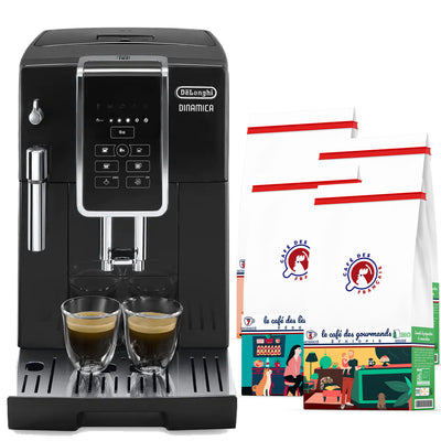 machine café automatique 3515 delonghi et coffret café bio