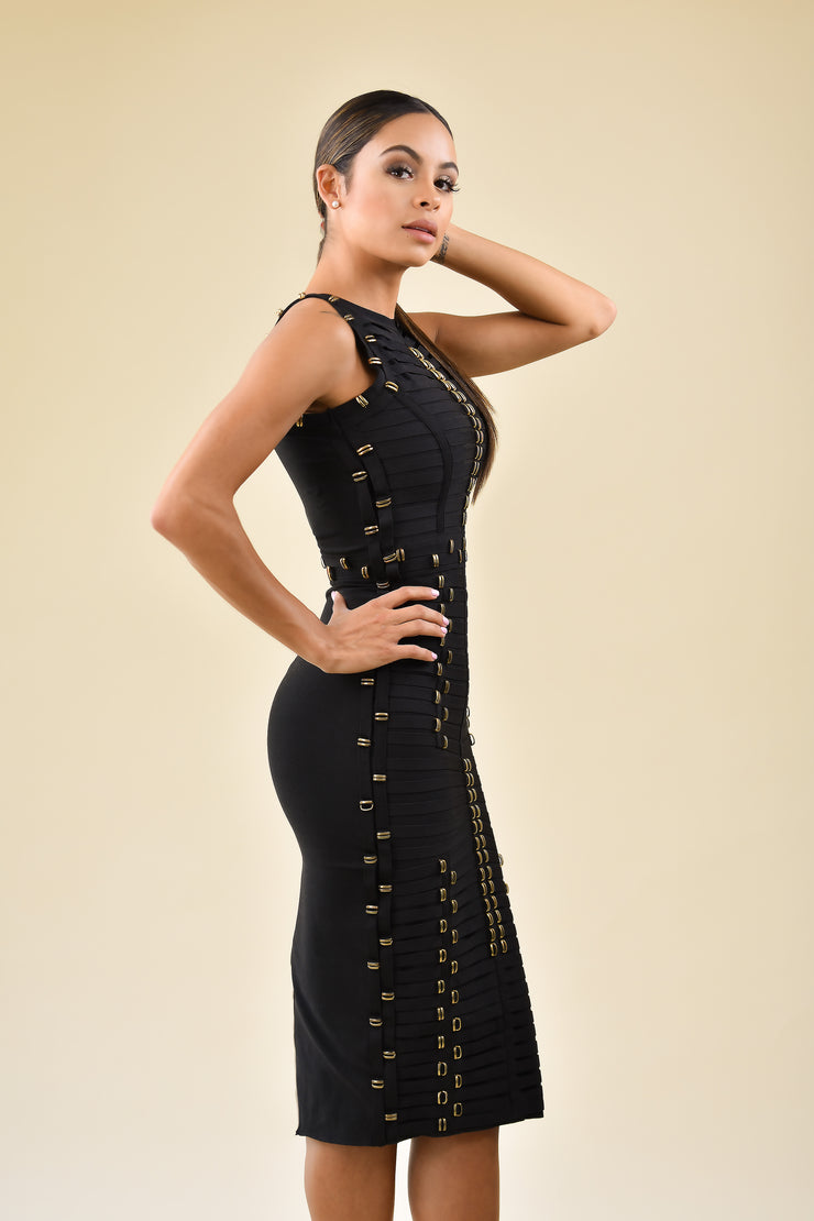 Fire Dance Bandage Dress