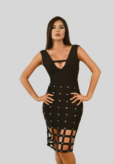 HOT LIKE FIRE BANDAGE DRESS