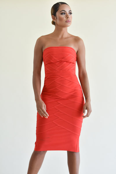 CHLOE BANDAGE DRESS
