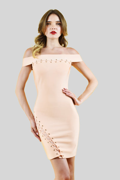 Half Moon Bandage Dress