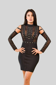 Black Moon Bandage Dress
