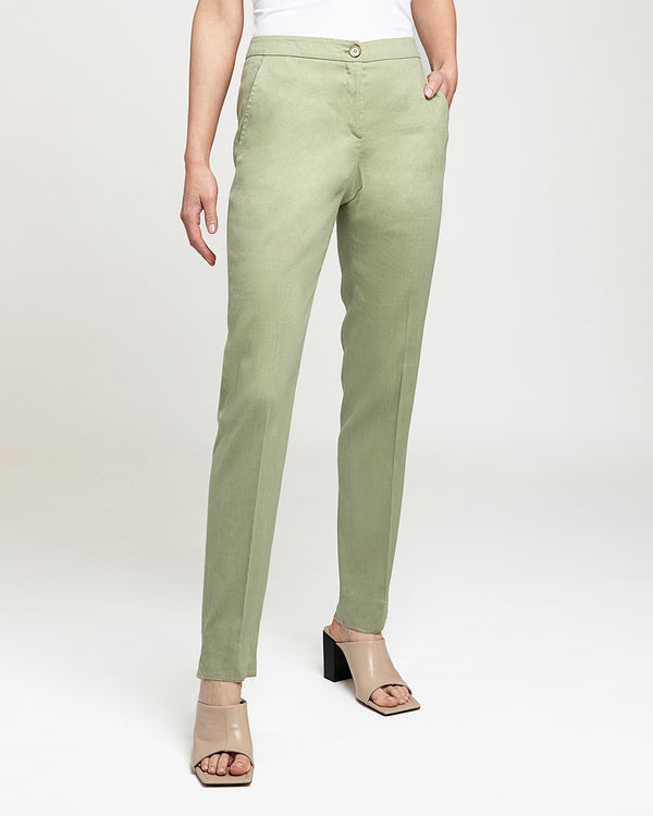 """SECA"" Slim Pant in Soft Linen"