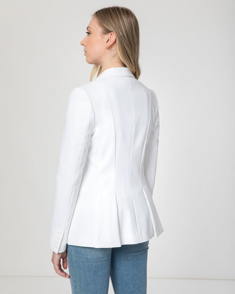 """PATIA"" Jacket with Open Flap Front Hemline"