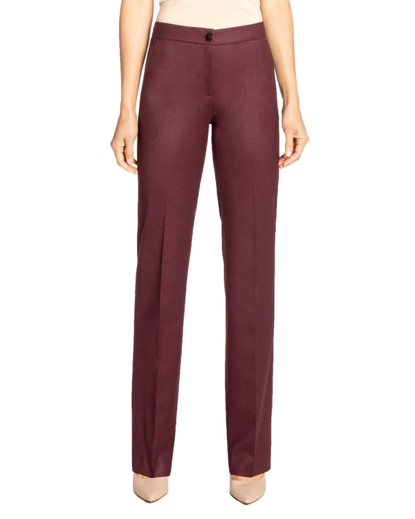"""JUNE"" Straight Leg Pant in Wool Stretch"