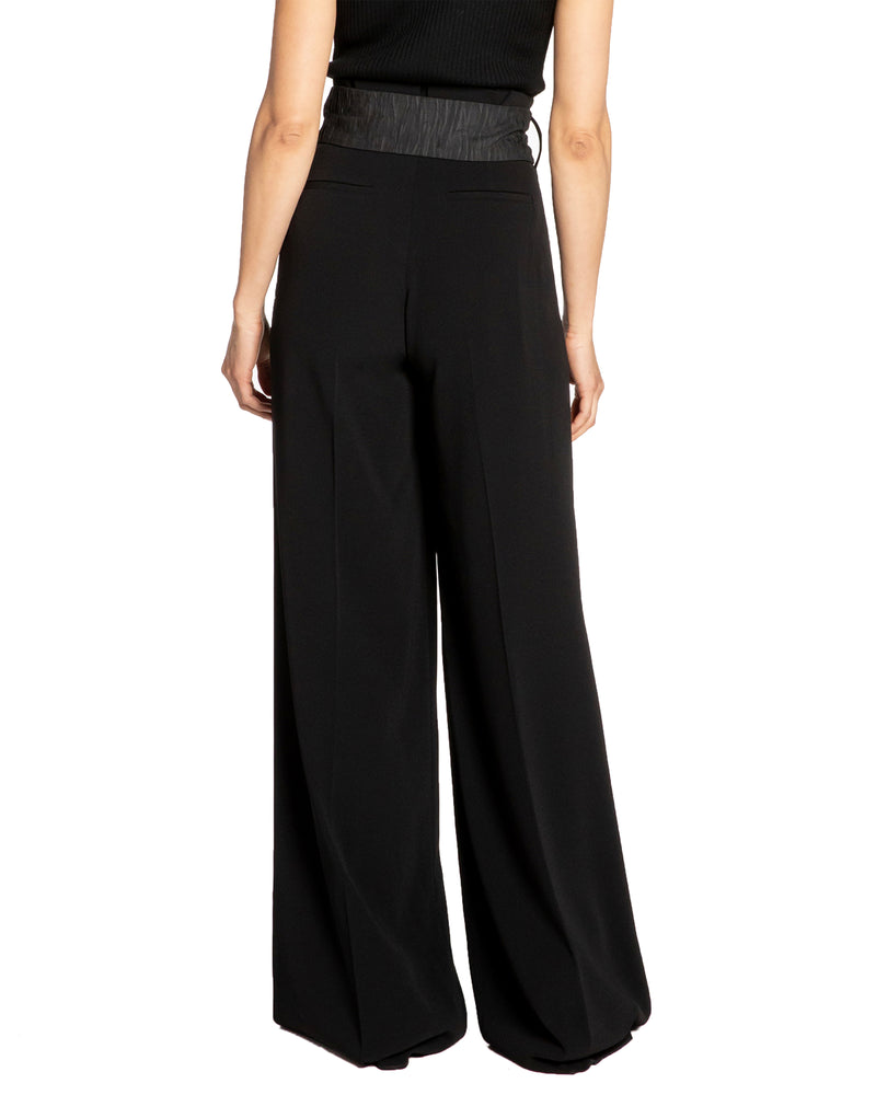 """AIDEN"" Crepe Wide Leg Pant"