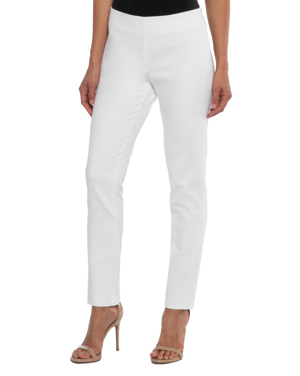 """CECE2"" Slim Pant in Cotton Stretch"