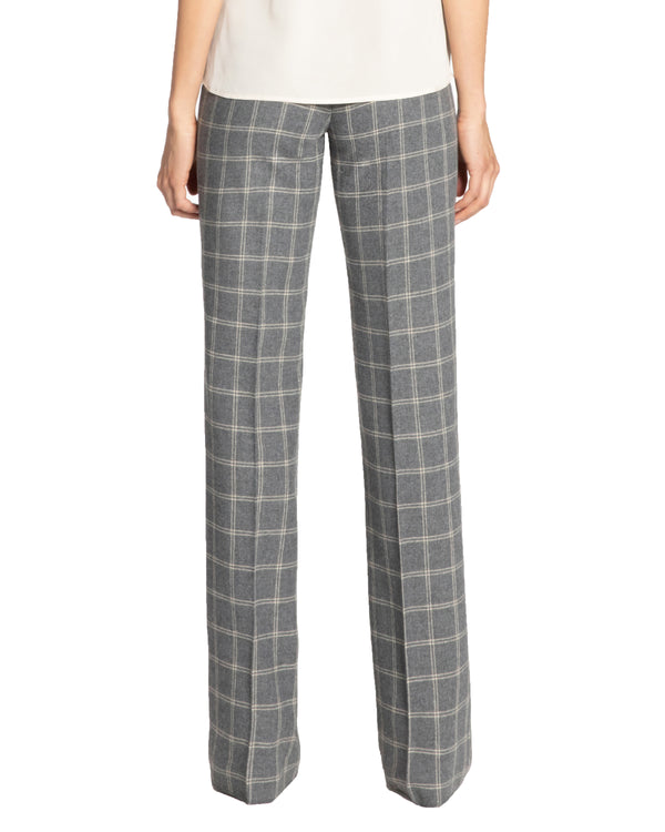 """DEJA1"" Straight Leg Pant in Flannel Plaid"