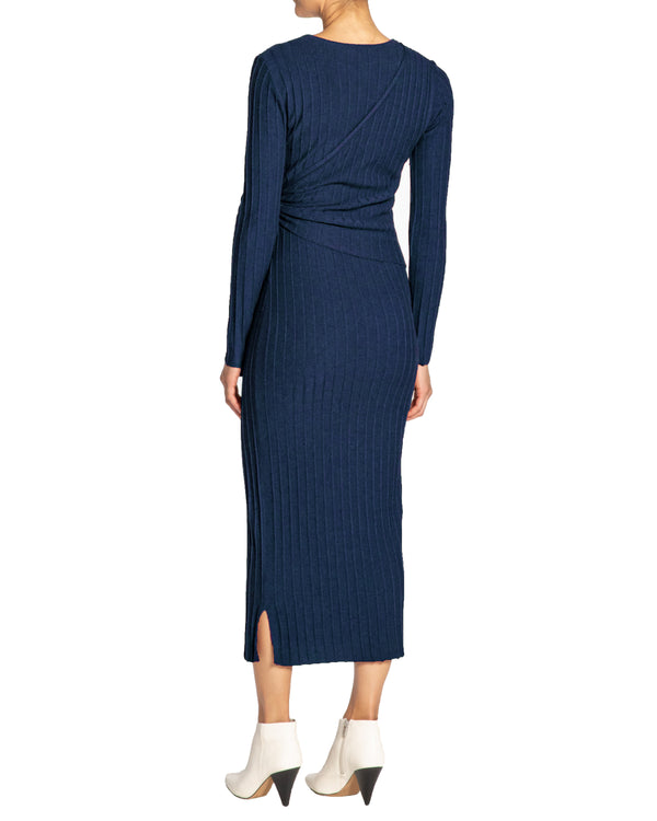 """EVELYN"" Knit Dress with Wrap Panel"
