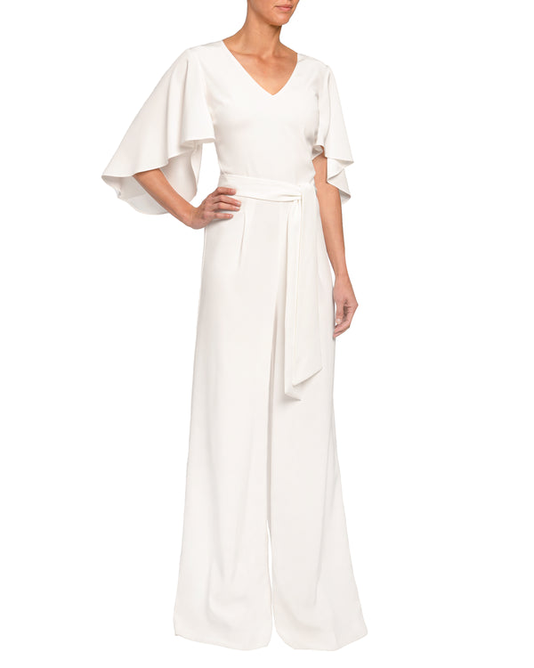 Jumpsuit with Dramatic Flared Sleeves