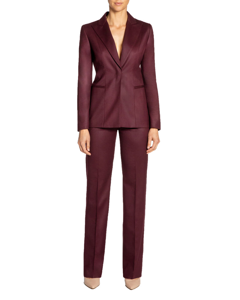 """JANELLE"" Tailored Jacket in Stretch Wool"