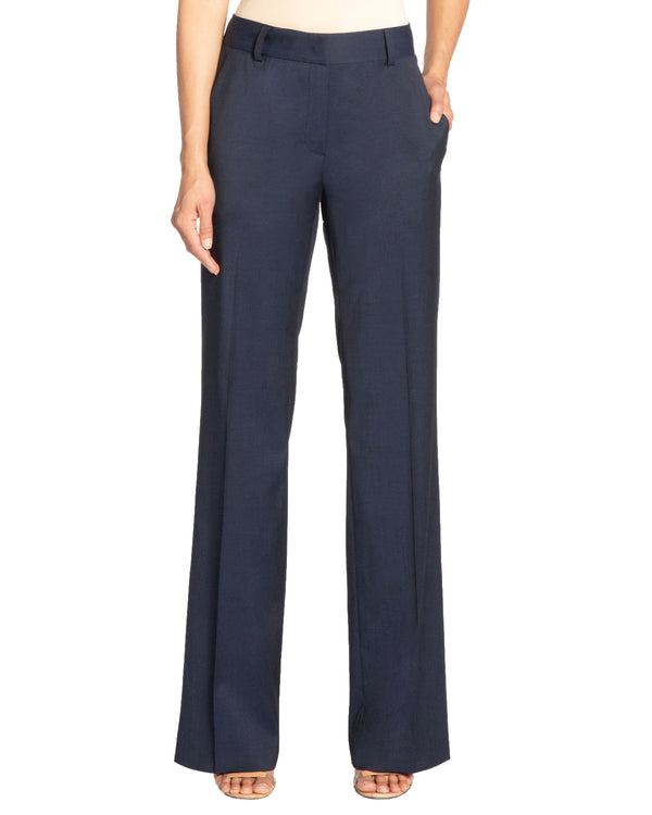 """PAOLA"" Straight Leg Pants in Wool Stretch"