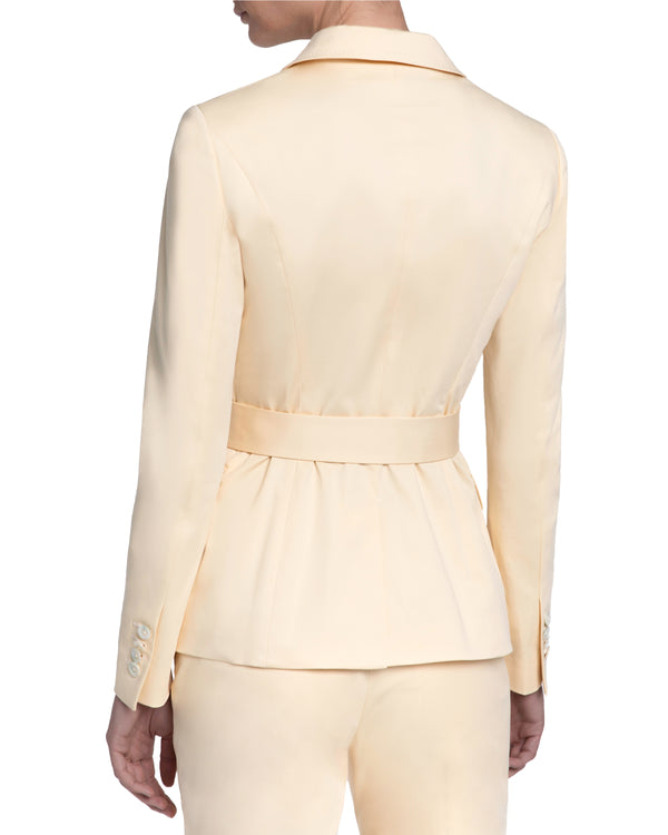 """PAGINA"" Belted Jacket in Cotton Stretch"