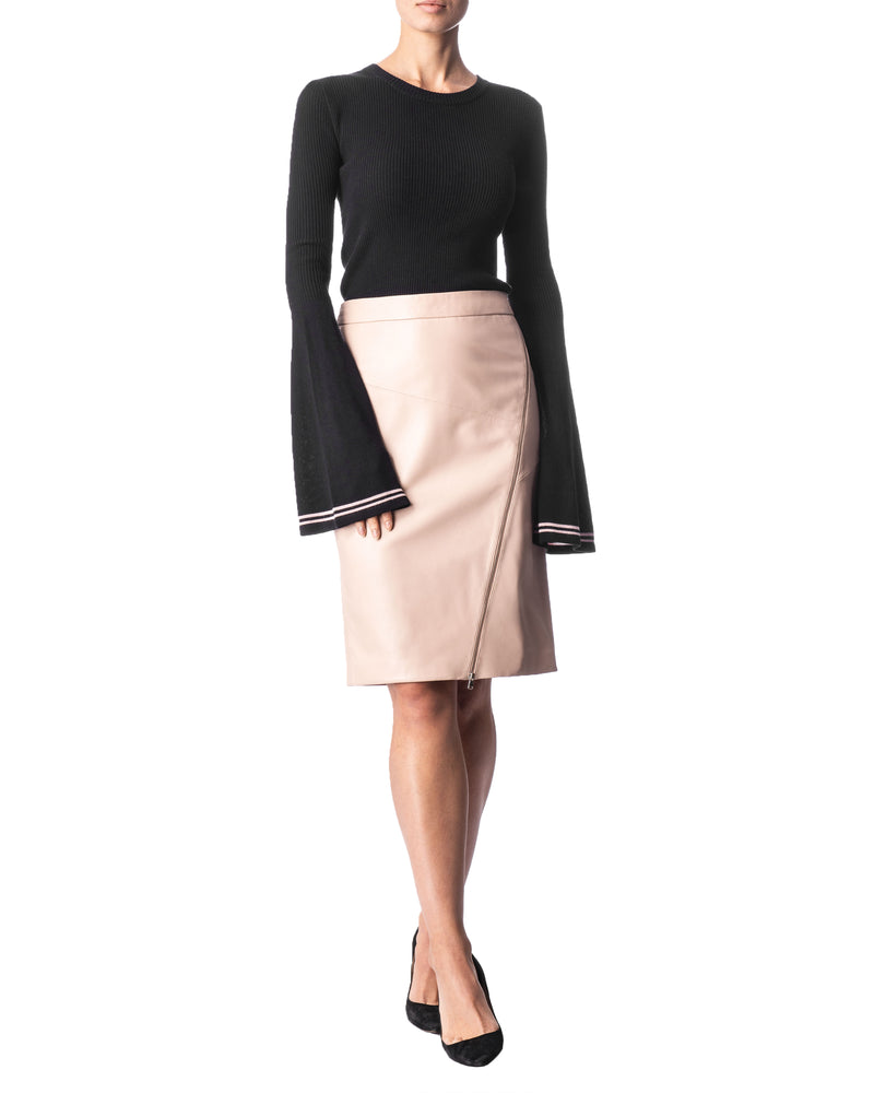 Slim Leather Skirt