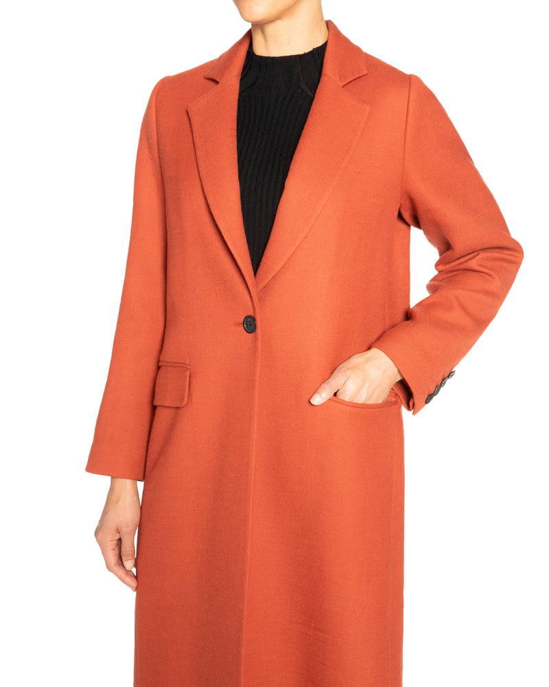 """TAMMY"" Long Coat in Virgin Wool Twill"