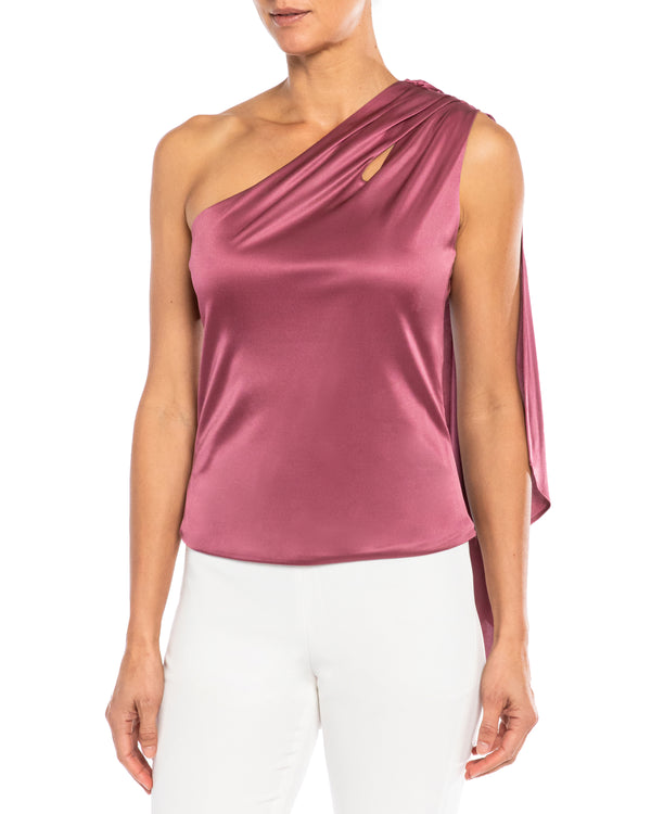 """VIGILE"" Top with Draped Capelet"