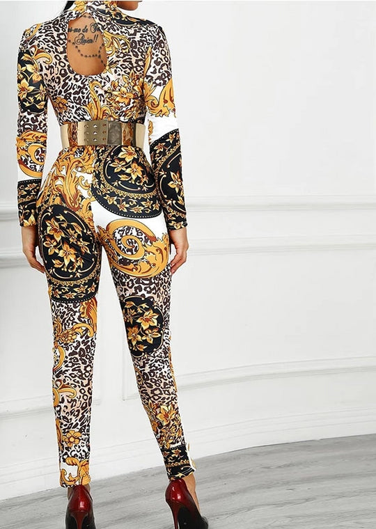 Printed Jumpsuit Sexy & Classy