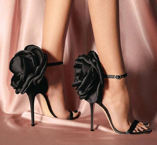 Big Butterfly-knot Sandals Stiletto High Heel Shoes