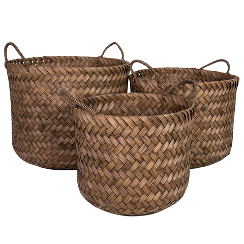 Cane Basket - Toffee
