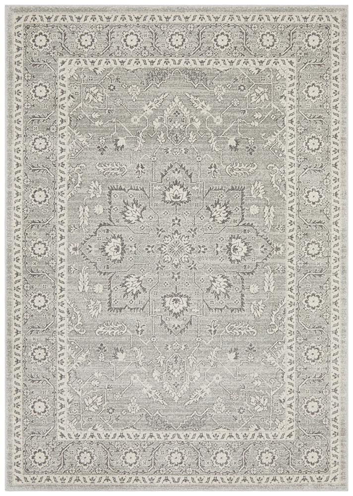 Florence Transitional Rug - Silver
